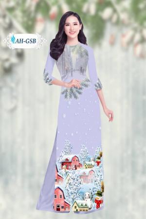 Vải áo dài đẹp in 3D AH GIANG SINH