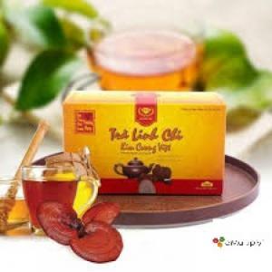 Trà Linh Chi Kim Cương Việt (hộp) vàng 25 túi /50g
