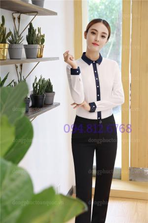 May đồng phục sơ mi nữ theo size phù hợp với chiều cao cân nặng, chính xác 100%