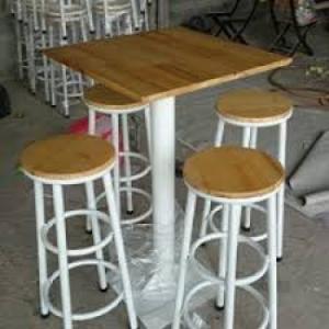 Bàn ghế quầy cao cafe giá rẻ tại xưởng sản xuất HGH090
