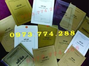 Bán vỏ hồ sơ cán bộ công chức viên chức