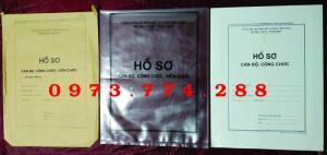 Vỏ, túi, bìa, bì đựng bộ hồ sơ cán bộ công chức, viên chức các loại.......