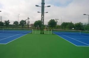 Thi công sơn sân tennis thế nào mới đúng cách