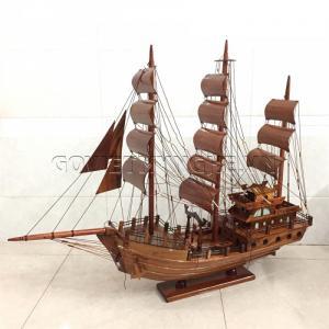 Mô Hình Thuyền Thái Lan 60cm (Gỗ Tràm)