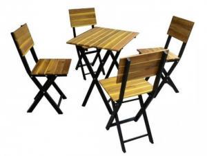 bàn ghế gổ quán nhậu giá rẻ tại xưởng sản xuất HGH 0003