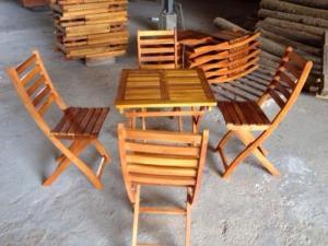 Ghế gổ xiếp cafe quán nhậu giá rẻ tại xưởng sản xuất HGH 00033
