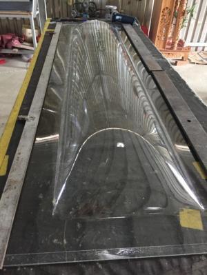 Bán sản phẩm kiếng quan tài bằng nhựa PET