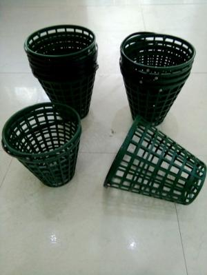 Rổ golf nhựa màu xanh đựng 50 banh