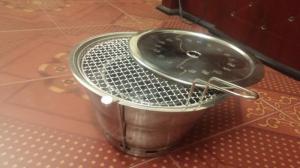 Bếp nướng âm bàn không khói Hàn Quốc hút dương