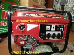 Máy phát điện chạy xăng Honda 7kw SH7500EX, dùng ổn định, giá hợp lý.