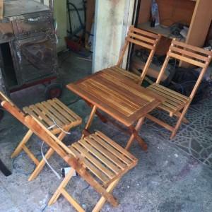 Bàn ghế gỗ xếp,giao hàng miễn phí