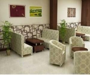 Ghế sofa màu kem kinh doanh cafe