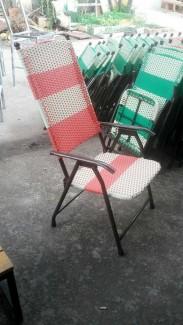 Ghế xếp đan vải,kinh doanh cafe