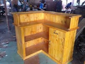 Quầy gỗ thu ngân giá rẻ