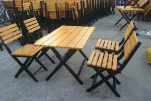 Bàn ghế gỗ xếp kinh doamh quán nhậu