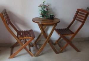 Bộ bàn ghế xếp gỗ HM001
