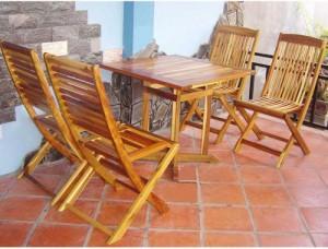 Thanh lý bộ bàn ăn ghế gỗ xếp