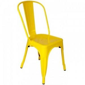 Ghế nhựa màu vàng chanh