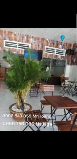 Bàn ghế gỗ chân sắt kinh doanh cafe