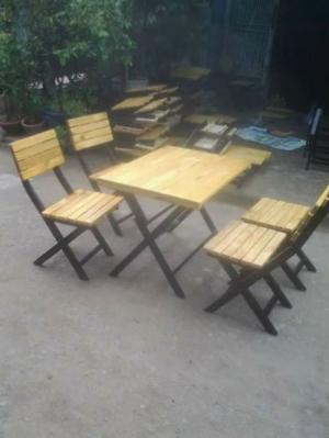Thanh lý nhanh 50 bộ bàn ghế gỗ xếp chân