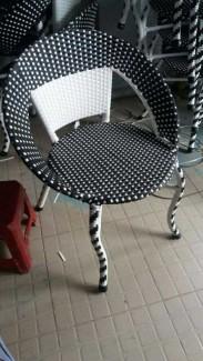 Ghế nhựa giả mây cho kinh doanh cafe