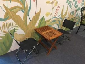 Thanh lý 2 cái ghế xếp vải cho quán cafe