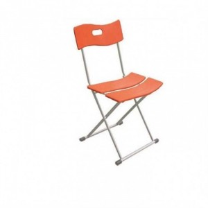 Thanh lý ghế nhựa xếp màu cam