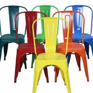 Ghế tolix chân cao lưng ghế thấp giá rẻ