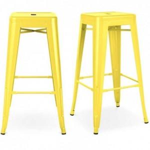 Ghế tolix chân cao nhiều màu sắc