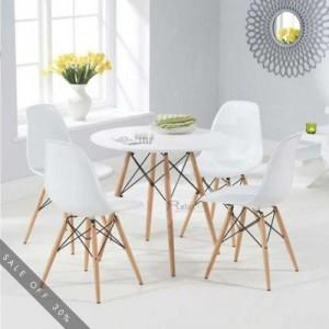 Bộ bàn ghế gỗ chân nhựa giá xưởng