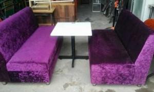 Ghế sofa nhung màu tím
