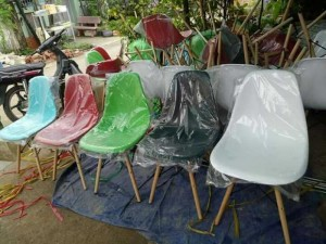 Thanh lý lô ghế nhựa chân gỗ giá rẻ tại tphcm