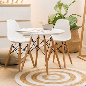 Bán bàn ghế nhựa màu trắng kinh doanh quán trà sữa