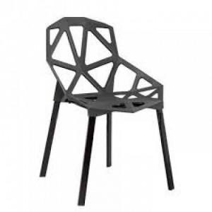 Ghế nhựa có hình lục giác màu đen