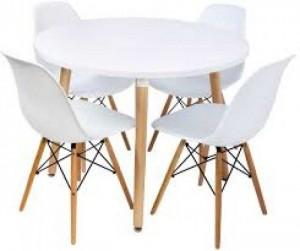 Nguyên bộ bàn ghế nhựa màu trắng