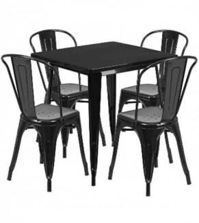Bộ bàn ghế tolix, chất liệu sắt sơn tĩnh điện