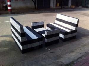 Bộ bàn ghế sofa nhựa giả mây sang trọng