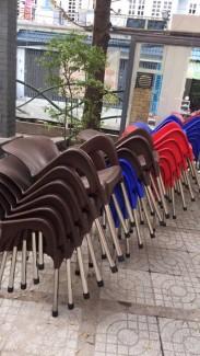 Ghế nhựa cafe giá rẻ nhiều màu sắc phối quán kinh doanh theo yêu cầu