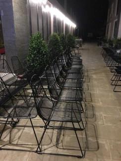 Ghế sắt sang trọng sơn tĩnh đơn cho kinh doanh quán cafe, sân vườn