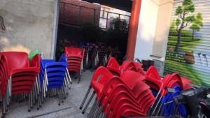 Xã hàng lô ghế nhựa cafe giá tại xưởng