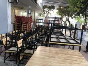 Xã hàng bàn ghế kinh doanh quán ăn, quán nhậu, nhà hàng
