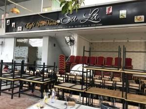 Bộ bàn ghế kinh doanh quán ăn kết hợp quán cafe siêu bền