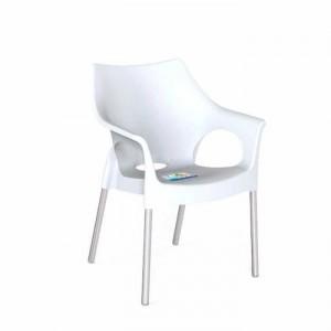 Ghế nhựa màu trắng 4 chân