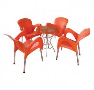 Cần bán bàn ghế nhựa màu đỏ cam kinh doanh cafe