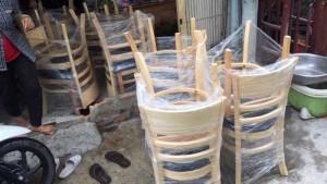 Thanh lý lô ghế gỗ giá tốt tại kho