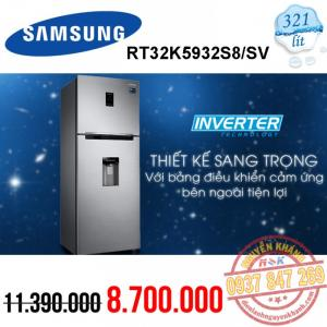 Tủ lạnh Samsung Inverter RT32K5932S8/SV 319 lít