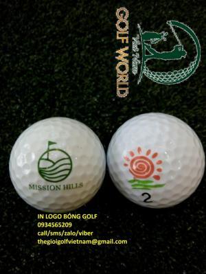 Dịch vụ in logo lên tee và in logo lên bóng golf làm quà tặng