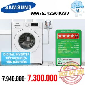 Máy giặt Samsung Inverter WW75J42G0KW/SV 7.5kg