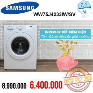 Máy giặt Samsung Inverter WW75J4233KW/SV 7.5kg