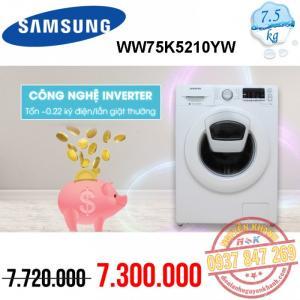 Máy giặt Samsung Inverter WW75K5210YW/SV 7.5kg